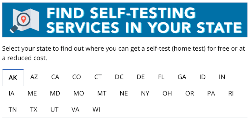 Where to Find an HIV Self Test Logo