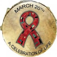 Native American AIDS Awareness Day Badge
