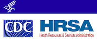 HHS, CDC and HRSA Logos