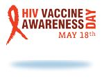 HIV Vaccine Awareness Day badge