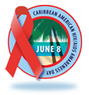 Caribbean-American HIV/AIDS Awareness Day badge