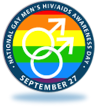 Logo of Gay Men's HIV/AIDS Awareness Day
