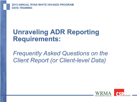 Unraveling ADR Reporting Requirements