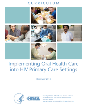 Curriculum Implementing Oral Health Care Cover