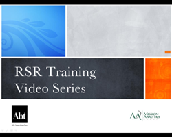 RSR Training Video Series Image