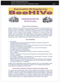 buprenorphine information sheet