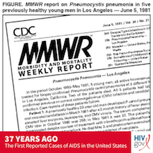 CDC MMWR on First AIDS Cases in 1981