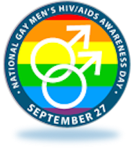 logo for gay men's AIDS awareness day